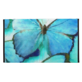 Aqua Butterflies iPad Folio Case