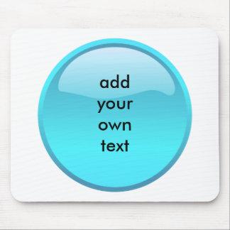 aqua button mousepad