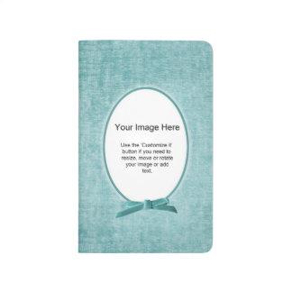 Aqua Chenille Fabric Oval Photo Frame Template Journal