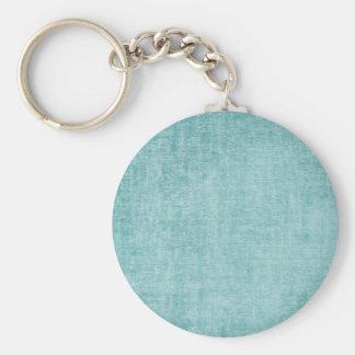 Aqua Chenille Key Ring