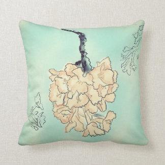Aqua Cherry Blossoms Cushion