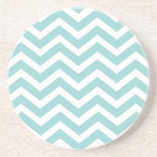 Aqua Chevron Coasters