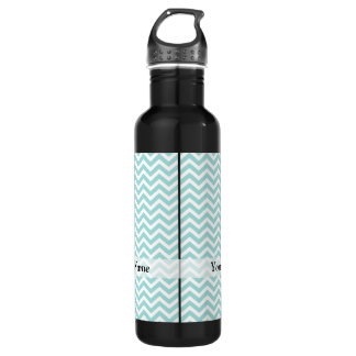 Aqua  chevron pattern 710 ml water bottle
