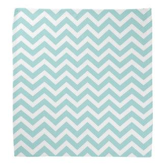 Aqua  chevron pattern bandana