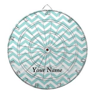 Aqua  chevron pattern dartboard