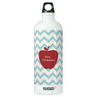 Aqua Chevron Red Apple Teacher SIGG Traveller 1.0L Water Bottle