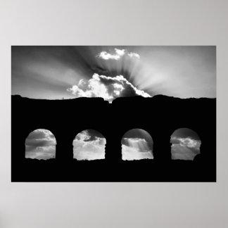 Aqua Claudia aqueduct Poster