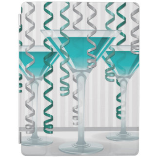 Aqua cocktail and ribbon iPad cover