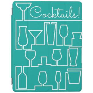 Aqua cocktail party iPad cover