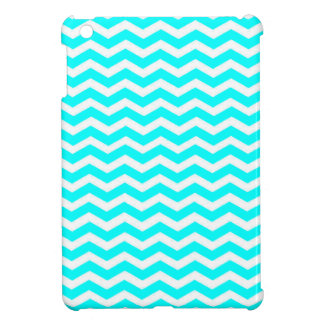 Aqua-Color-And-White Chevron Cover For The iPad Mini