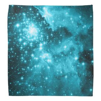 Aqua Colored Stars Bandana
