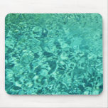 Aqua Coloured Water Texture Mouse Pad