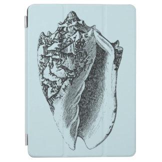 Aqua Conch Shell iPad Air Cover