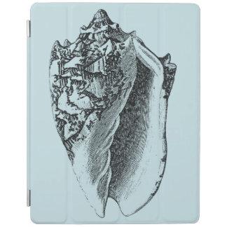 Aqua Conch Shell iPad Cover