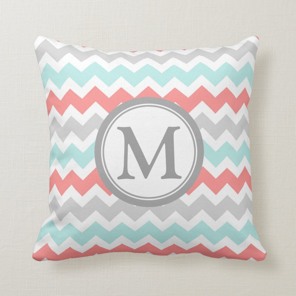 Chevron Monogram Pillow