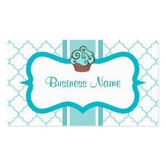 Aqua Cupcake Business Card