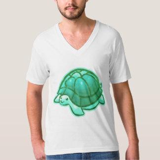 Aqua Cute Cartoon Turtle Tshirts