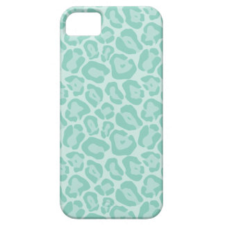 Aqua Cute Girly Animal Print Case For The iPhone 5