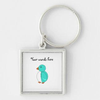 Aqua cute penguin keychains