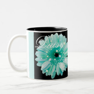 Aqua Daisy Sparkle Coffee Mug