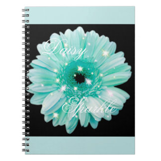 Aqua Daisy Sparkle Notebook