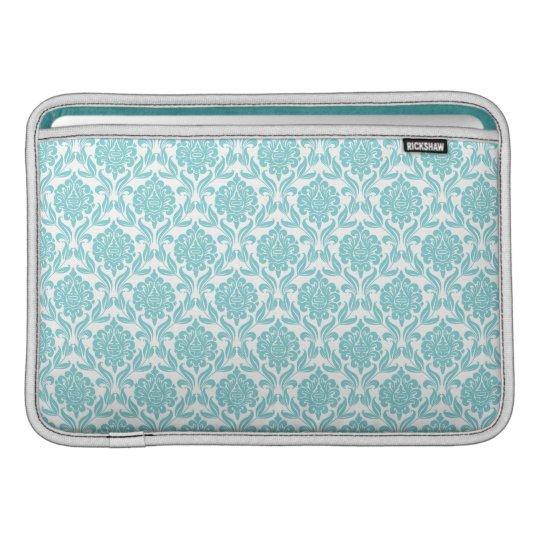 Aqua Damask Pattern Macbook Air Sleeve