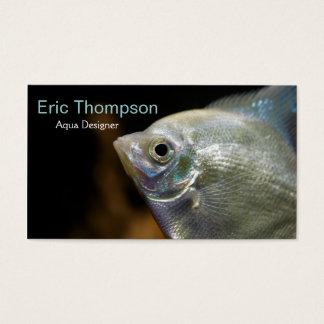Aqua Designer Business Card