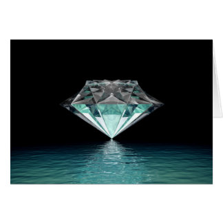 Aqua Diamond Note Card