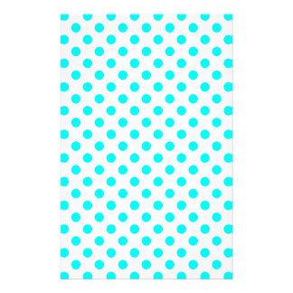 AQUA-DOTS! (a polka dot design) ~ Custom Stationery