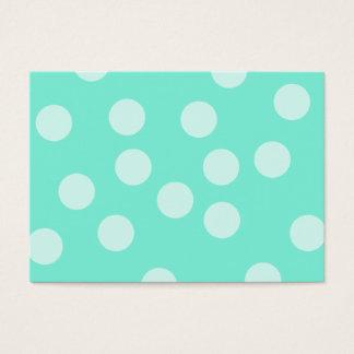 Aqua Dotty Pattern. Business Card