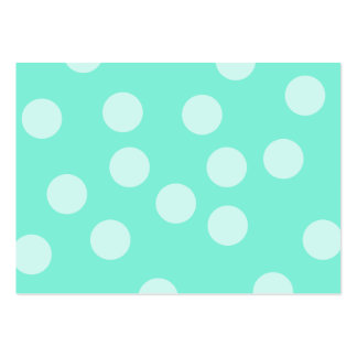 Aqua Dotty Pattern. Pack Of Chubby Business Cards