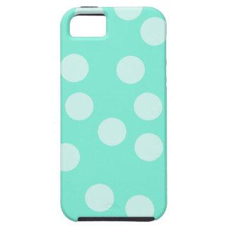 Aqua Dotty Pattern. Tough iPhone 5 Case