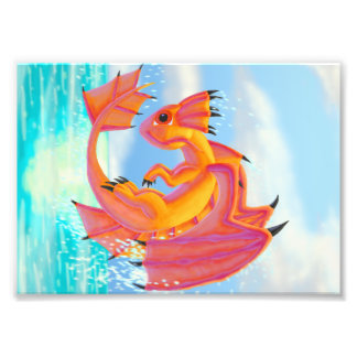 Aqua Dragon Photographic Print