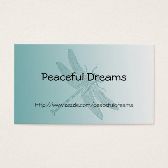 Aqua Dragonfly Business Card
