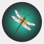 Aqua Dragonfly Dragonflies Stickers