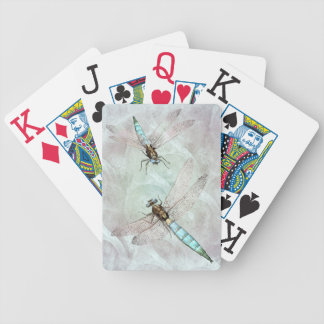 Aqua Dragonfly Duet Playing Cards