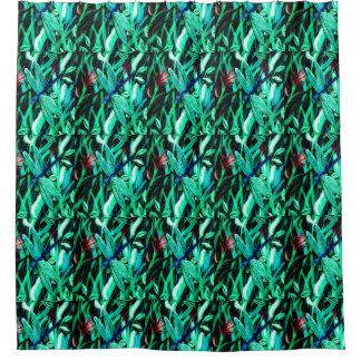 Aqua Dragonfly Shower Curtain