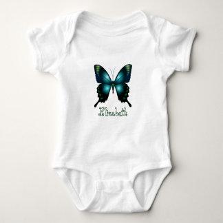 Aqua  Elegant Butterfly Baby Bodysuit