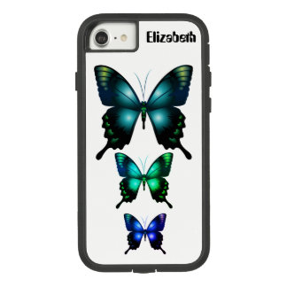 Aqua  Elegant Whimsical  Butterfly Case-Mate Tough Extreme iPhone 8/7 Case