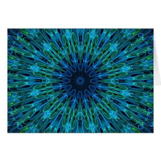 Aqua Explosion Kaleidoscope Card