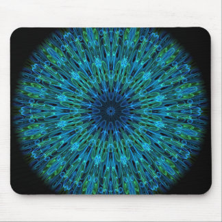 Aqua Explosion Kaleidoscope Mouse Mat