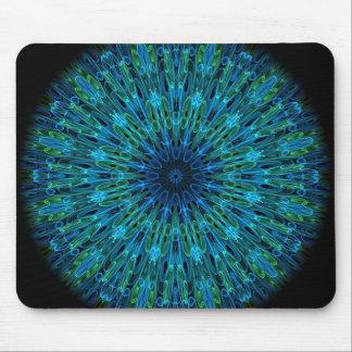 Aqua Explosion Kaleidoscope Mouse Pad