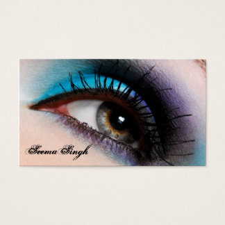 Aqua Eye Makeup Artist cosmetics Business Card