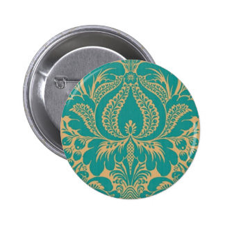 Aqua Fantasy Floral Button
