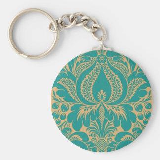 Aqua Fantasy Floral Key Chain
