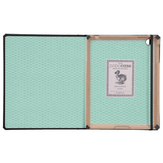 Aqua Fish Scales Pattern IPAD Dodo Book Case Covers For iPad
