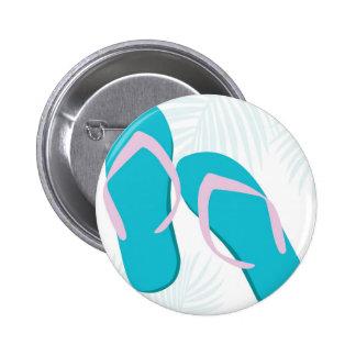 aqua flip flops 6 cm round badge