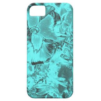 Aqua Floral Print iPhone 5 Covers