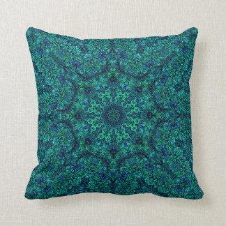 """""""Aqua Geo Star"""" Mandala Pillow"""