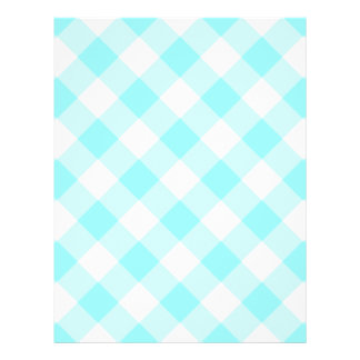 Aqua Gingham Pattern 21.5 Cm X 28 Cm Flyer